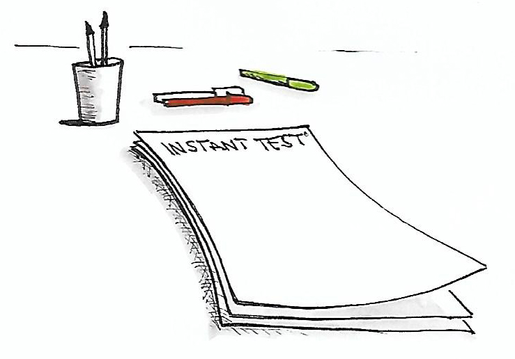 Instant test Arborescence, Feuilles de papier et crayons pour passer le test